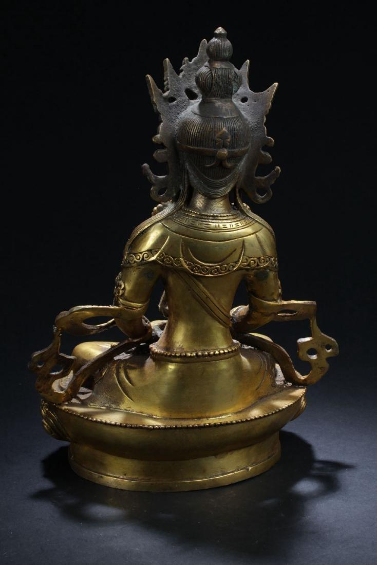 An Estate Chinese Buddha Statue - 4