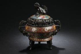 An Estate Chinese Cloisonne Censer