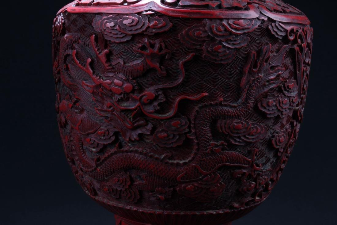 An Estate Chinese Lacquer Vase - 3