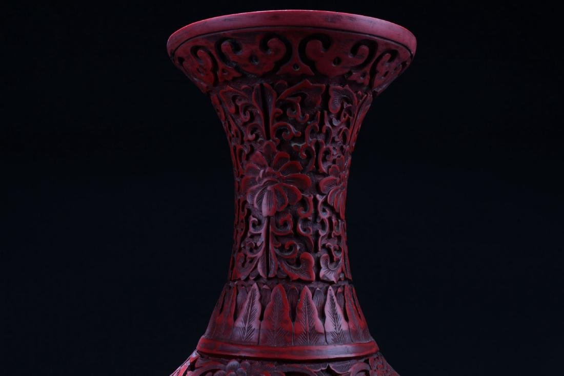 An Estate Chinese Lacquer Vase - 4