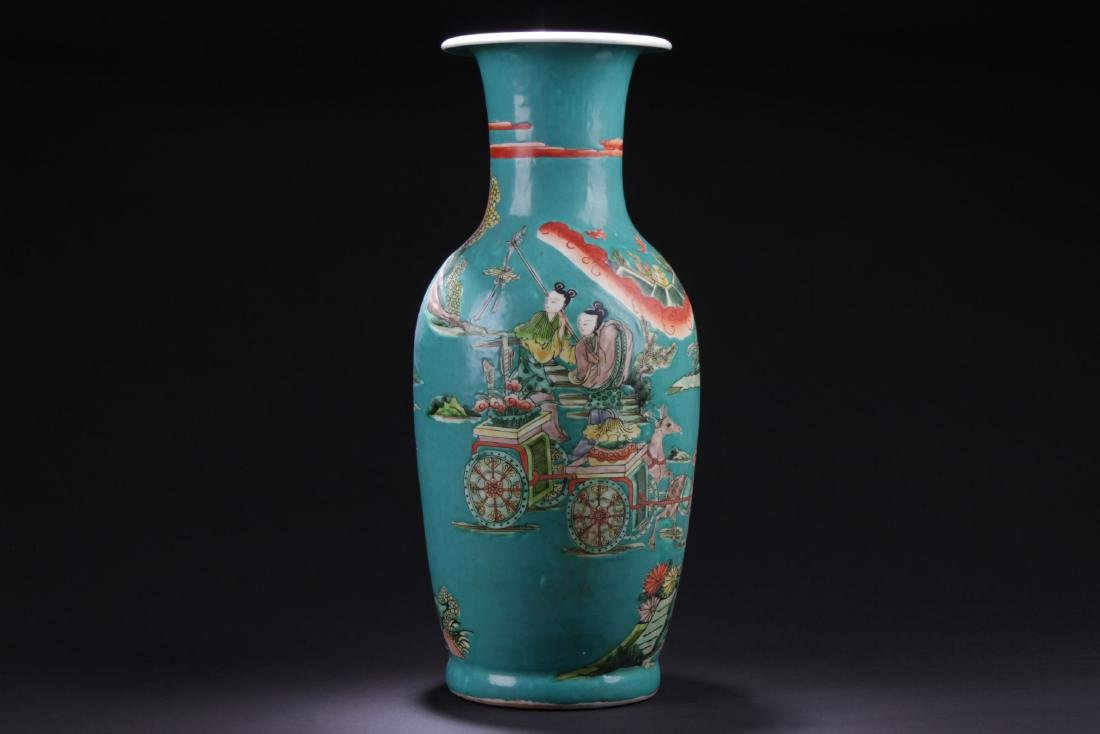 An Estate Story-telling Porcelain Vase