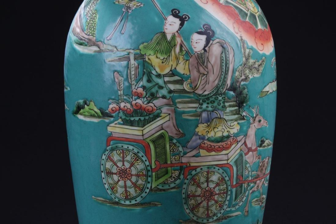 An Estate Story-telling Porcelain Vase - 2