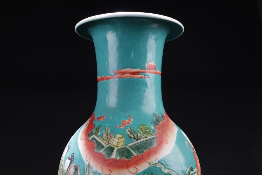 An Estate Story-telling Porcelain Vase - 5