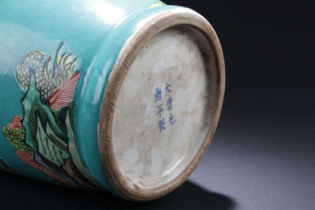 An Estate Story-telling Porcelain Vase - 7
