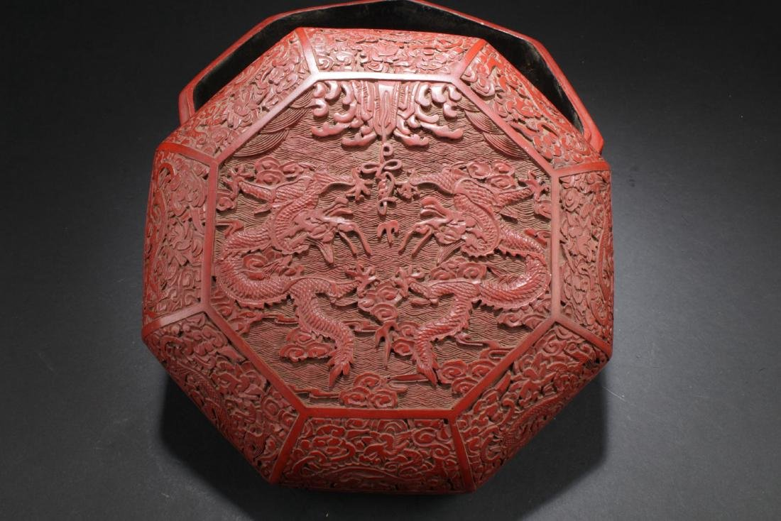An Octa-shape Chinese Lacquer Box