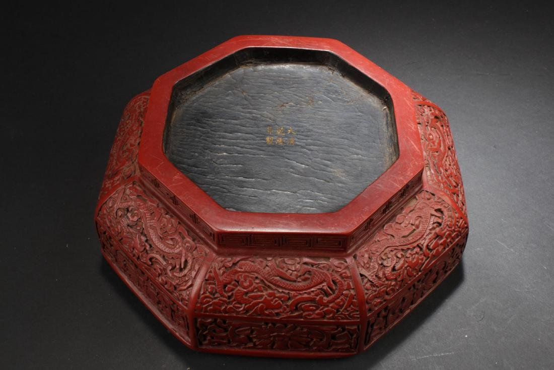 An Octa-shape Chinese Lacquer Box - 4