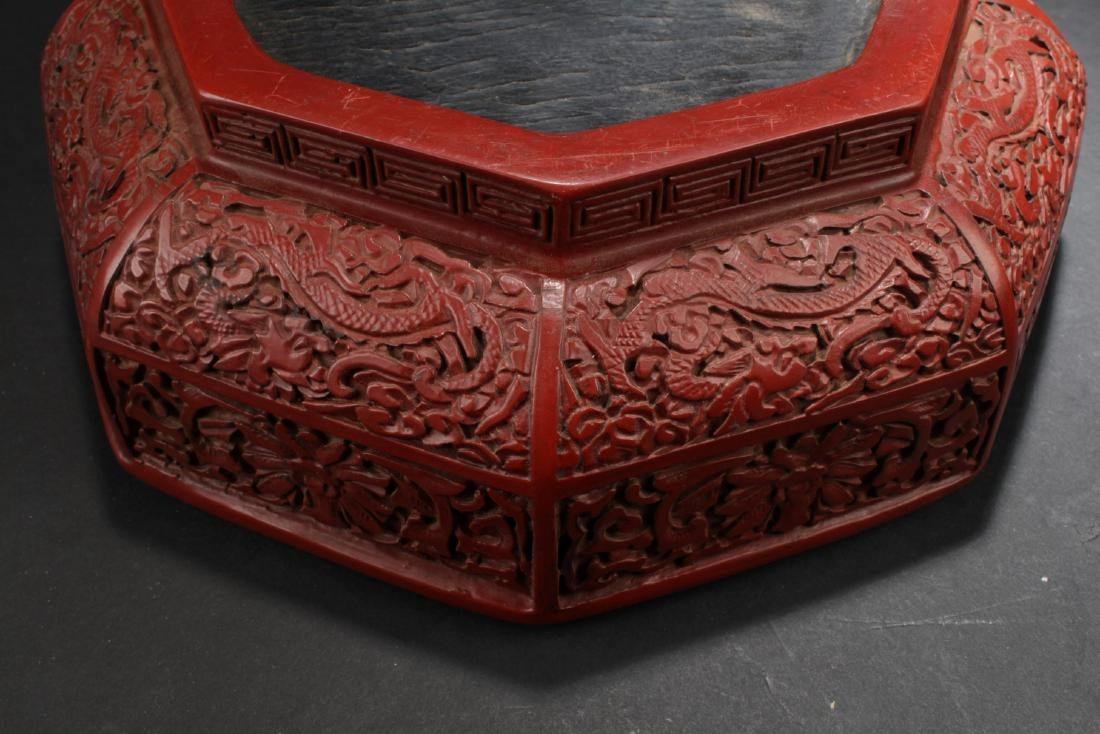 An Octa-shape Chinese Lacquer Box - 6