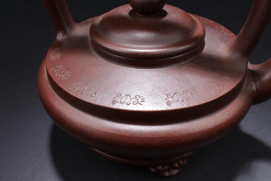 A Handled Round Chinese Tea Pot - 2