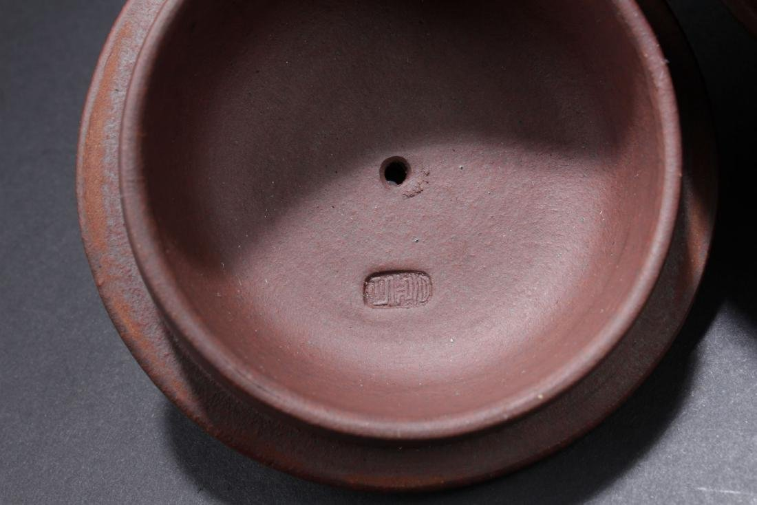 A Handled Round Chinese Tea Pot - 7