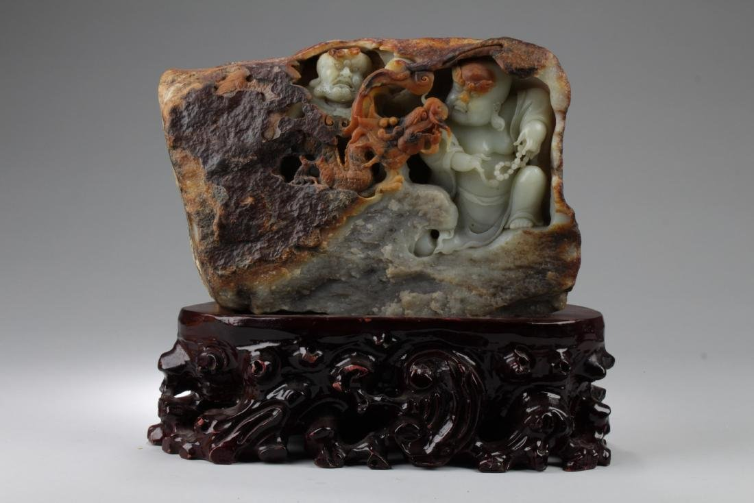 A Large and Rare Chinese Jade Carved Ornament