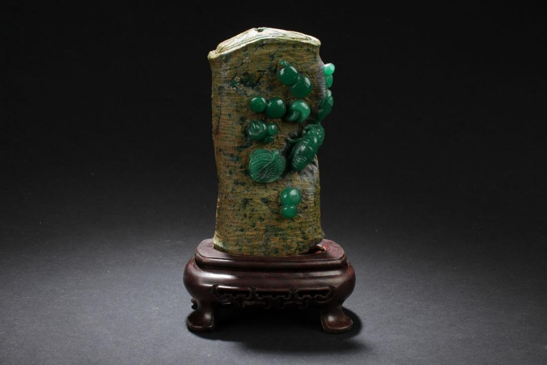 A Chinese Stone Curving Nature-sceen Curving Display