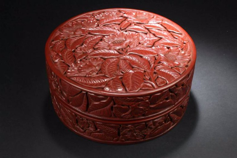 A Lidded Chinese Estate Lacquer Box