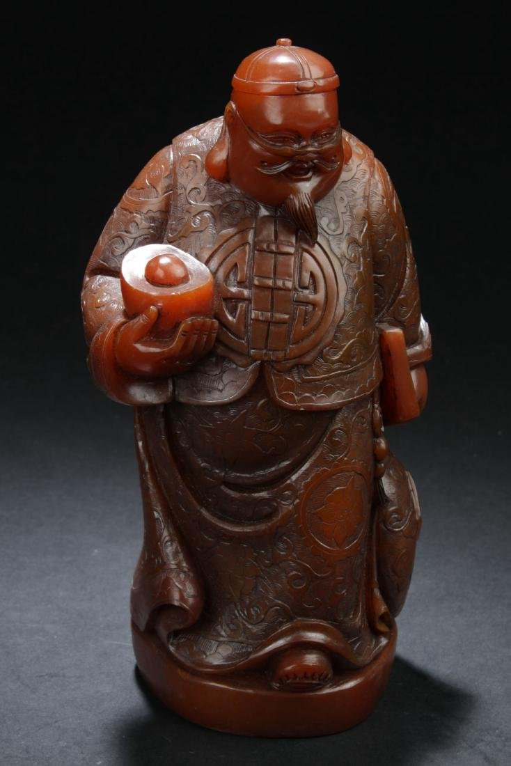 A Chinese Soapstone Curving Statue