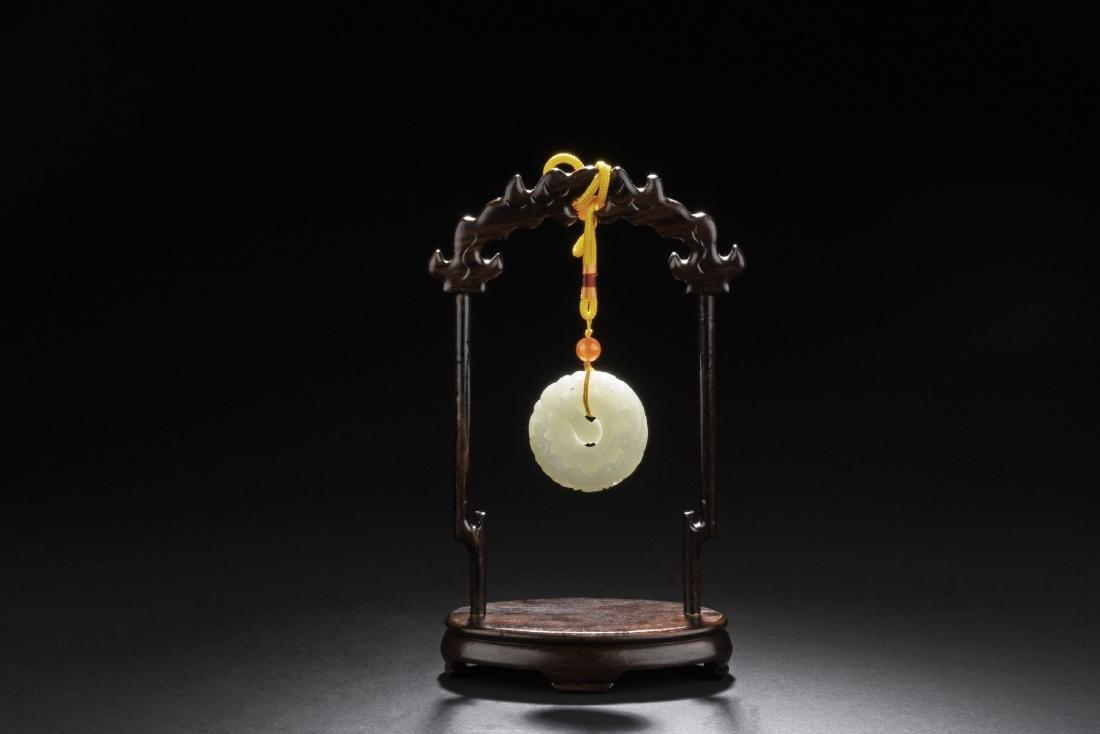 Chinese Hetian Jade Hanging Ornament