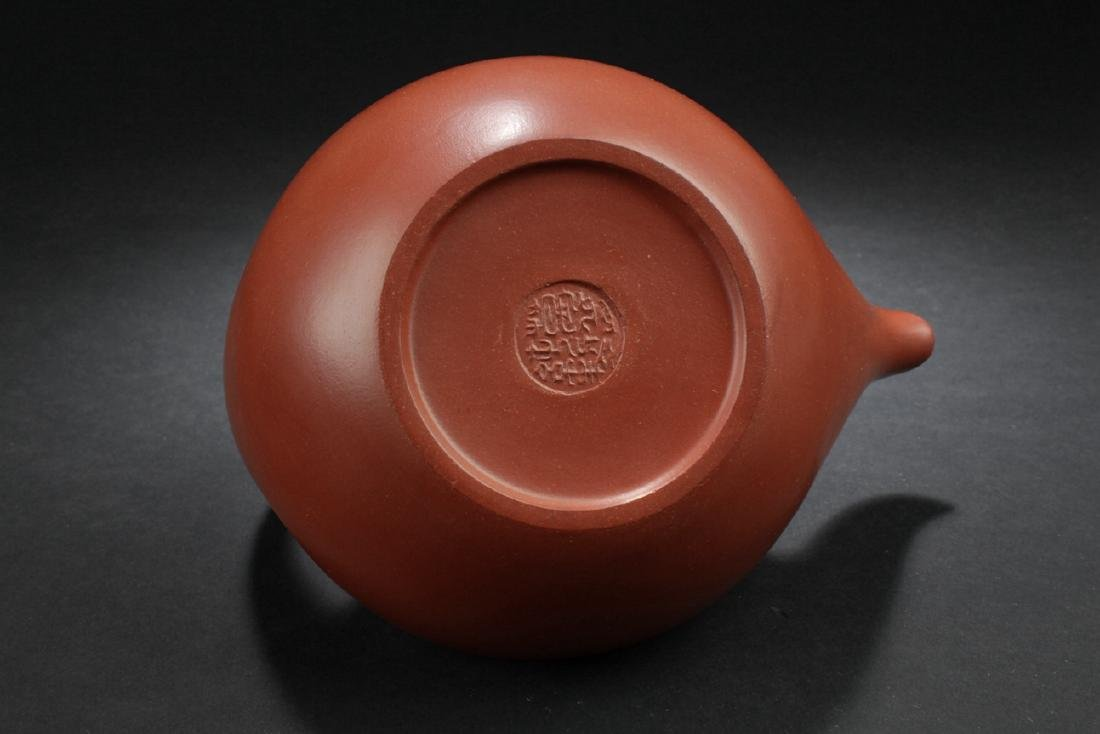A Handled Boat-style Chinese Estate Tea Pot - 6