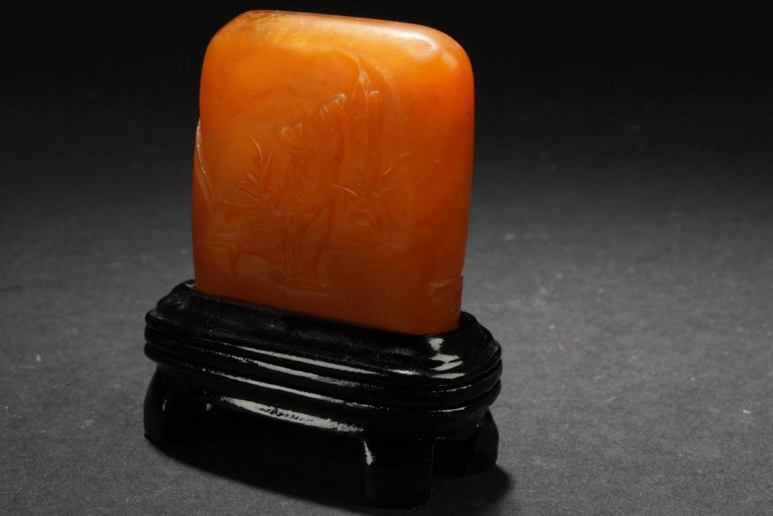 An Estate Chinese Soapstone Square Figure - 3