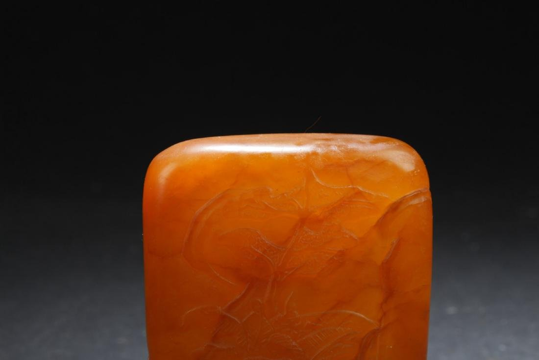 An Estate Chinese Soapstone Square Figure - 6