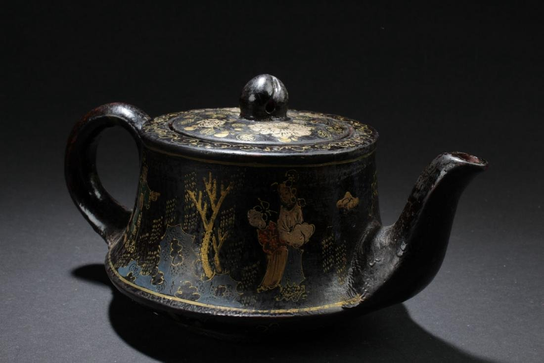 A Story-telling Bent-surface Chinese Tea Pot - 2