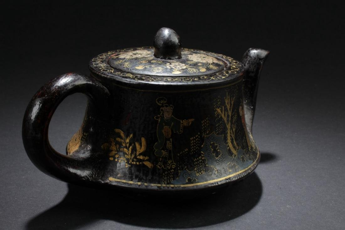A Story-telling Bent-surface Chinese Tea Pot - 3