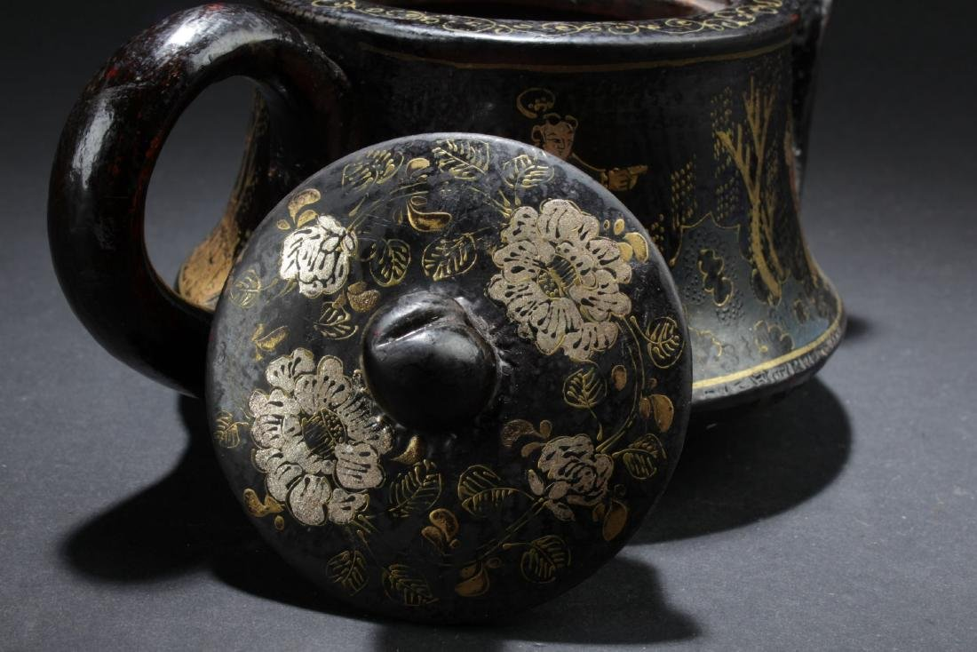 A Story-telling Bent-surface Chinese Tea Pot - 4