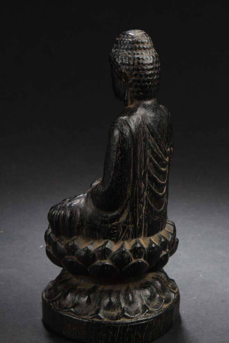 Chinese Hardwood Carved Statue - 3