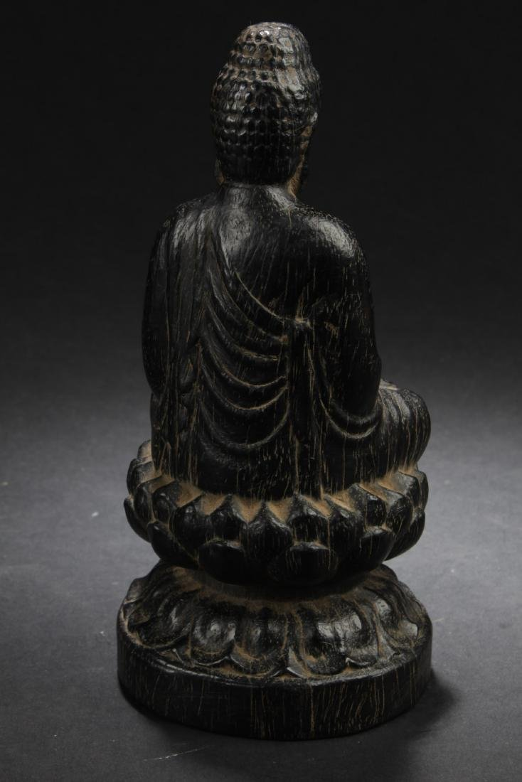 Chinese Hardwood Carved Statue - 4