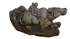 Jade Cow Sculpture