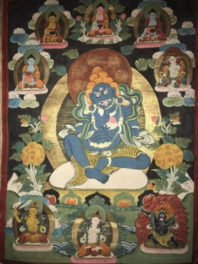 An Estate Tibetan Thangka Display