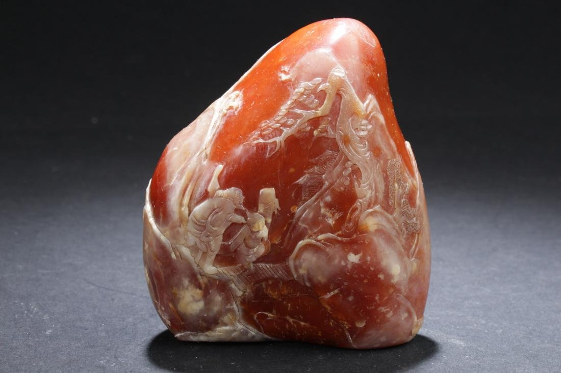 A Chinese Mountain-view Estate Soapstone Figure Display