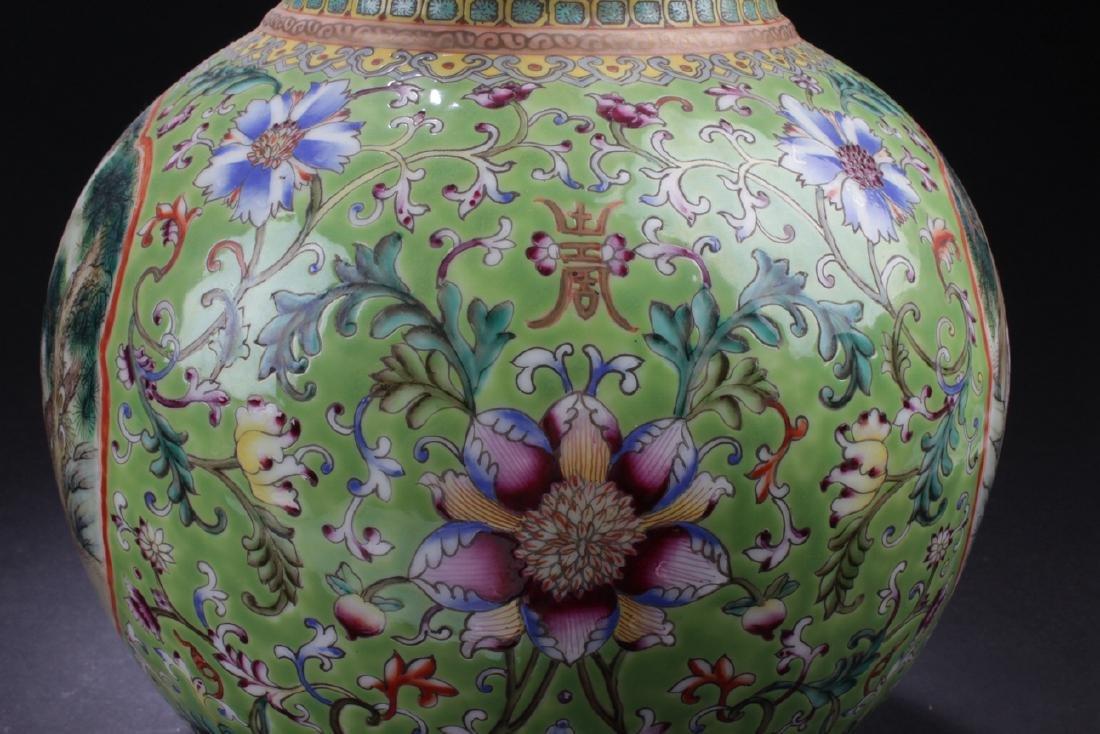 A Duo-handled Chinese Windowed Estate Porcelain Vase - 7