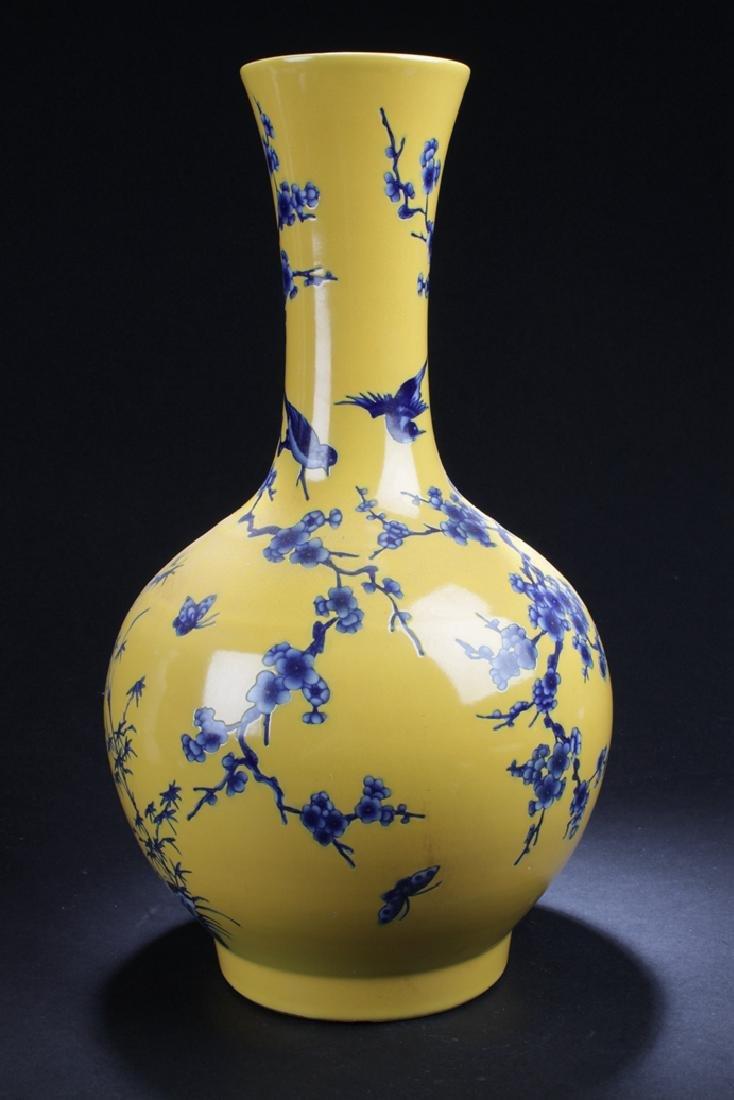 A Narrow-opening Chinese Estate Porcelain Vase