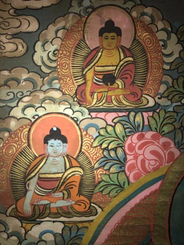 An Estate Tibetan Thangka Display - 3