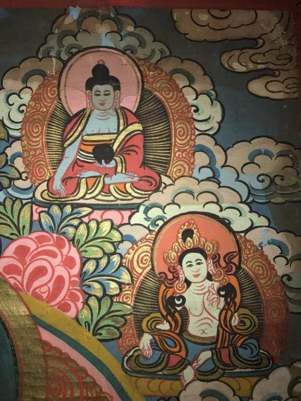 An Estate Tibetan Thangka Display - 4