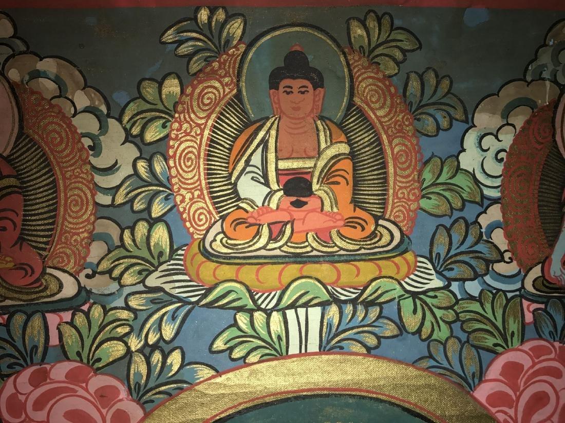 An Estate Tibetan Thangka Display - 5