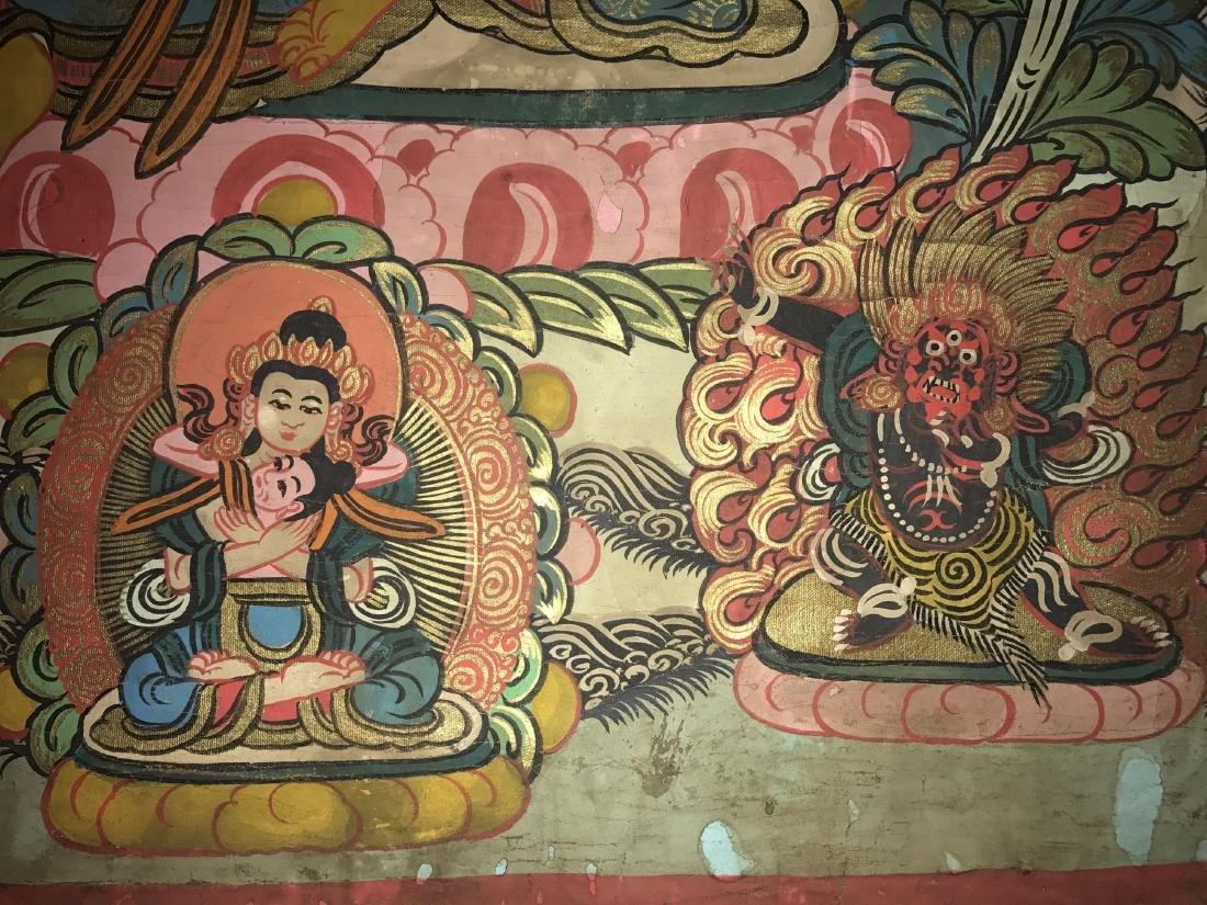 An Estate Tibetan Thangka Display - 6