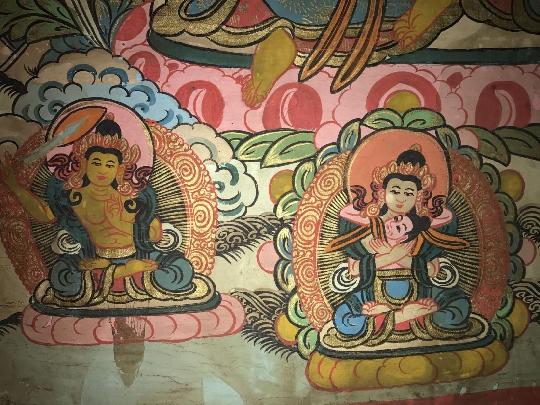 An Estate Tibetan Thangka Display - 7