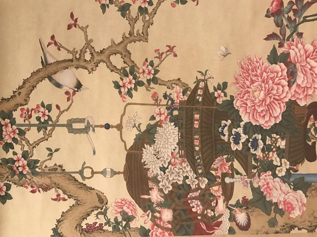A Chinese Nature-sceen Shenquan Detailed Painting - 2
