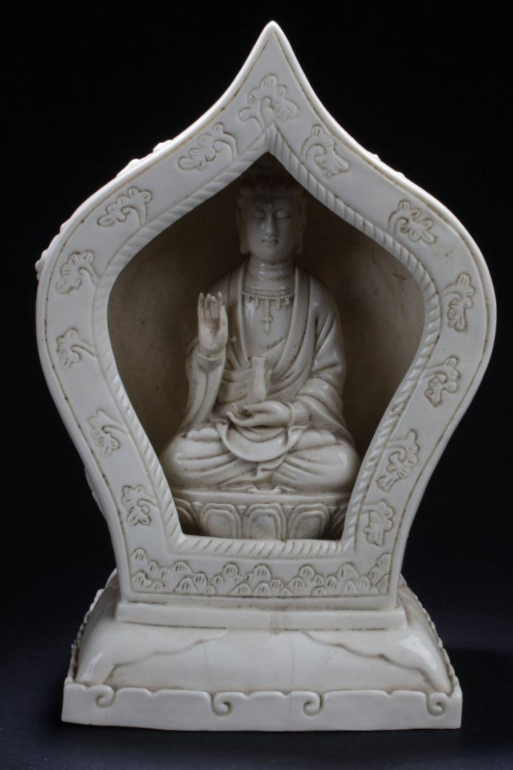 A Peaceful-pondering Chinese Estate White Porcelain