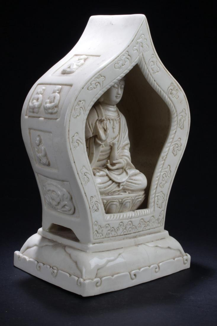 A Peaceful-pondering Chinese Estate White Porcelain - 2
