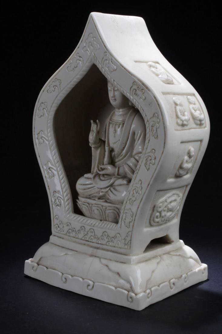 A Peaceful-pondering Chinese Estate White Porcelain - 3