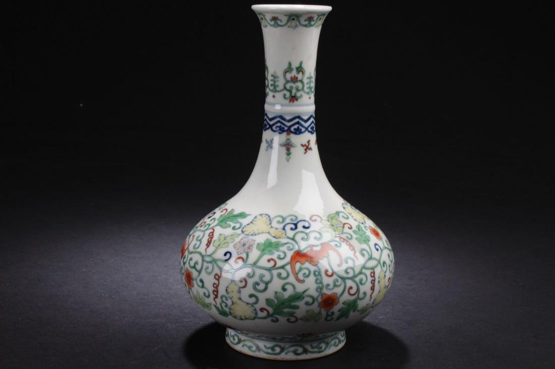 A Chinese Narrow-opening Plant-filled Fortune Porcelain - 3