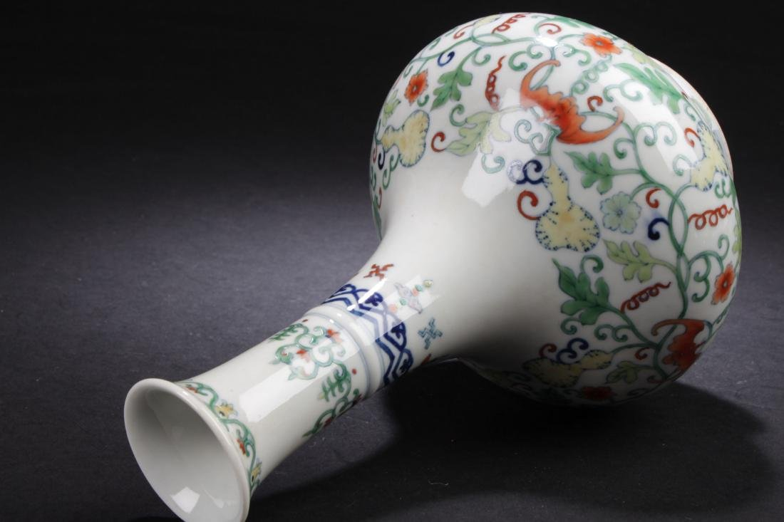 A Chinese Narrow-opening Plant-filled Fortune Porcelain - 6