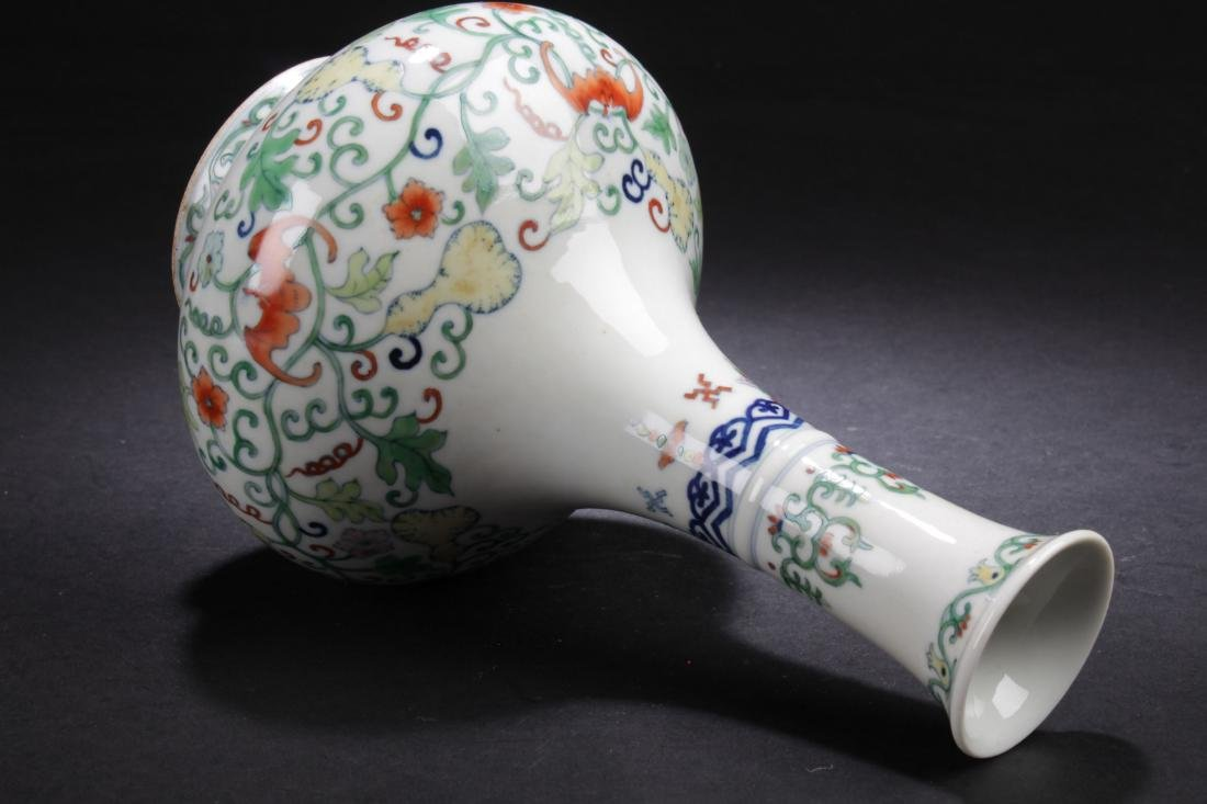 A Chinese Narrow-opening Plant-filled Fortune Porcelain - 7
