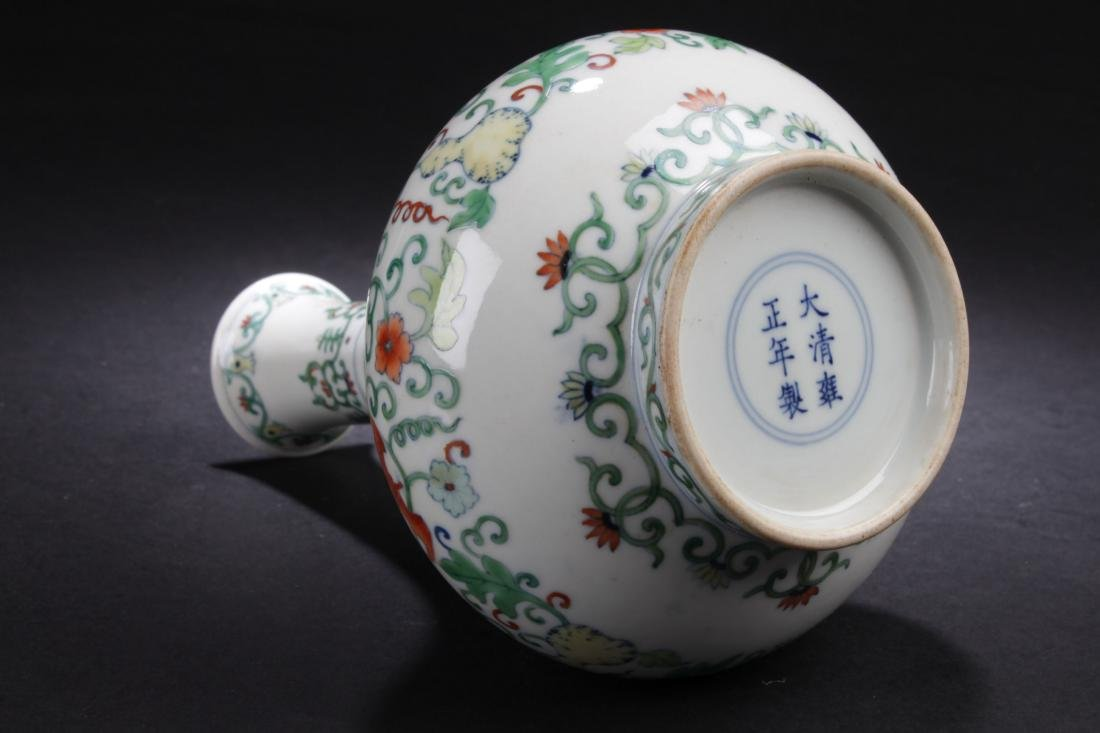 A Chinese Narrow-opening Plant-filled Fortune Porcelain - 8