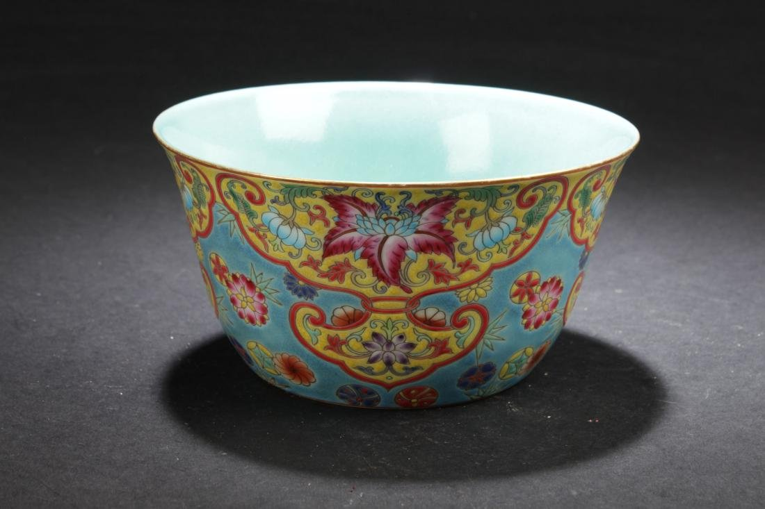 A Chinese Bat-framing Estate Fortune Porcelain Cup