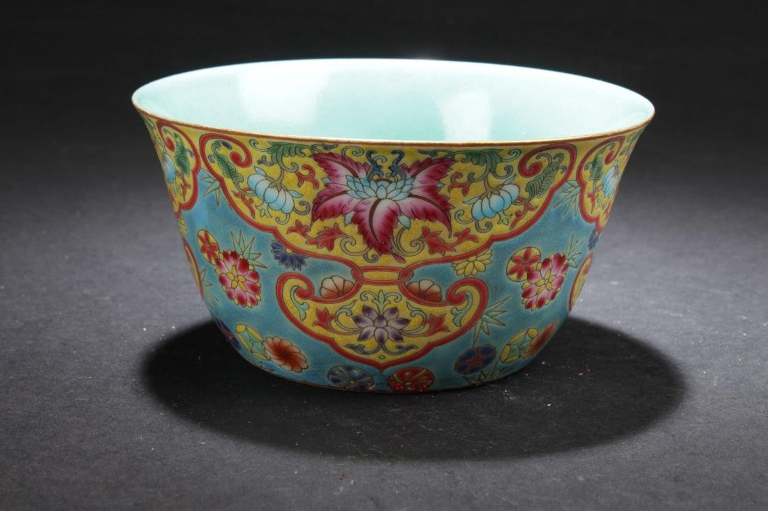 A Chinese Bat-framing Estate Fortune Porcelain Cup - 2