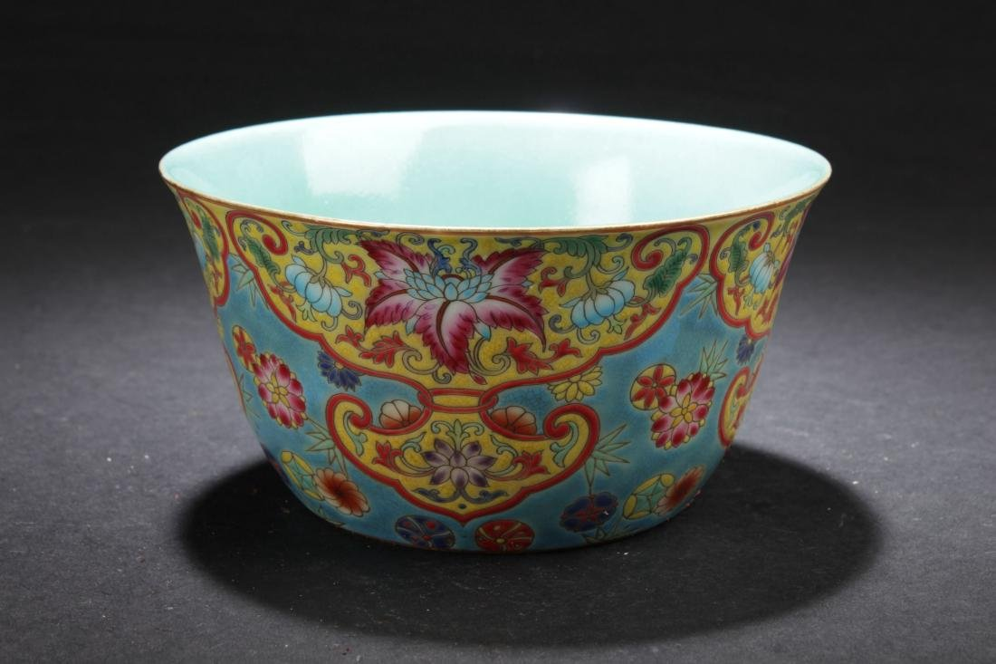 A Chinese Bat-framing Estate Fortune Porcelain Cup - 3