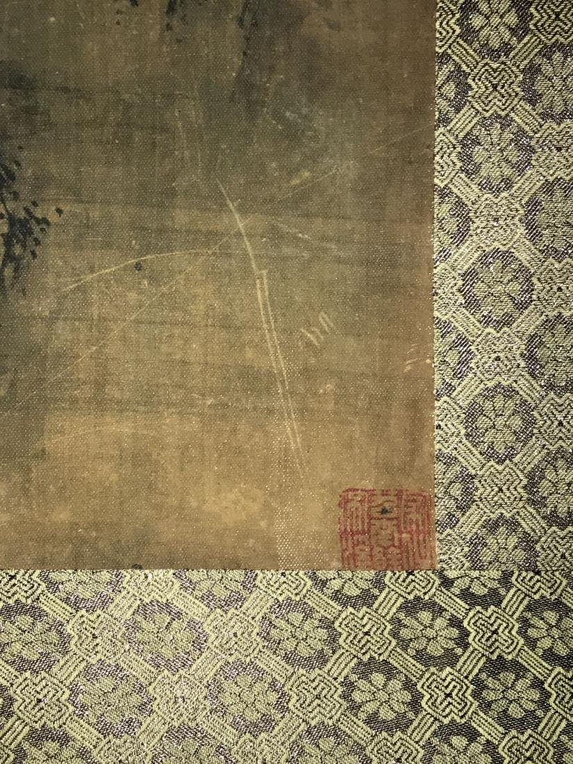 A Chinese Deer-fortune Natural-sceen Estate Scroll - 3