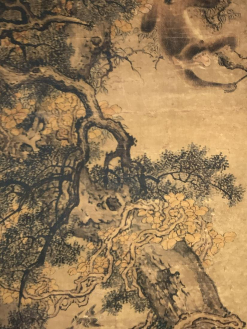 A Chinese Deer-fortune Natural-sceen Estate Scroll - 6