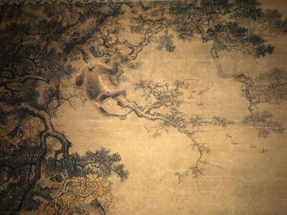 A Chinese Deer-fortune Natural-sceen Estate Scroll - 7